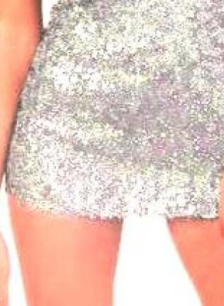 Mini Skirt - Haute Silver Sequin Mini Skirt | UsTrendy