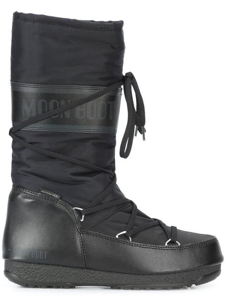MOON BOOT women soft moon black shoes