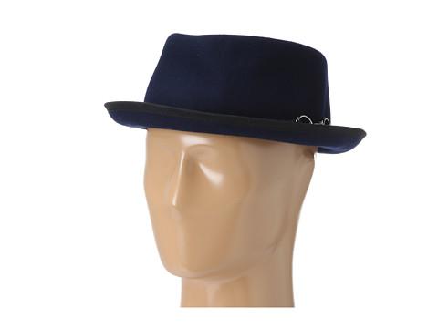 San Diego Hat Company CHA6422 Buckle Felt Porkpie Navy - Zappos.com Free Shipping BOTH Ways
