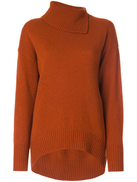 Joseph dress sweater dress women wool yellow orange