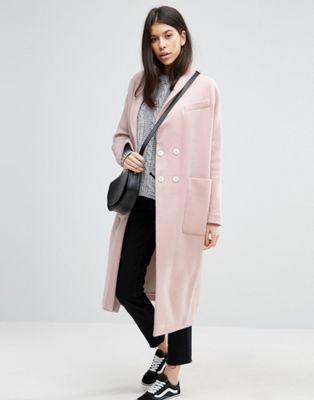 ASOS Swing Coat in Wool Mix at asos.com