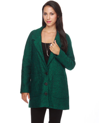 Dakota by Jack Corin Coat - Jade Green Coat - Green Jacket - $89.00