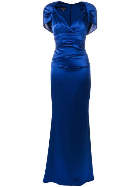 Talbot Runhof dress women blue