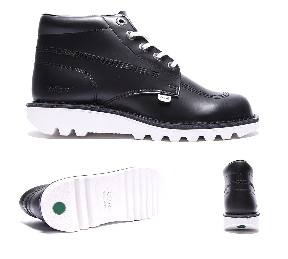 High leather boot