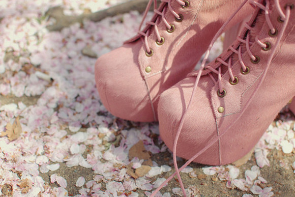 cute shoes love high heels platform heels laces pink ish rose pink pink boots baby pink laced boots platform frankie sandford beautiful
