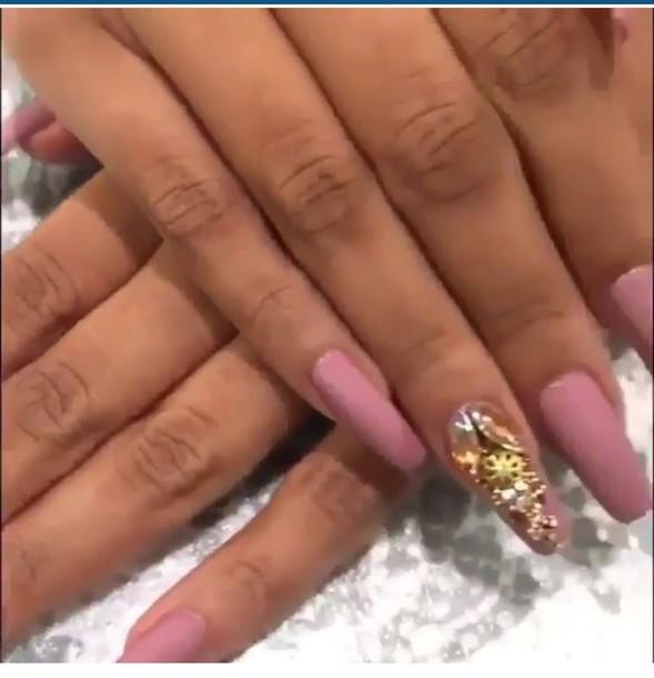 nail polish, pink, lilac, purple, nails, nail accessories, acrylic ...