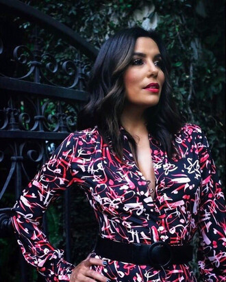 dress shirt shirt dress eva longoria belt instagram fall dress