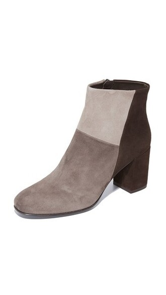 colorblock booties shoes
