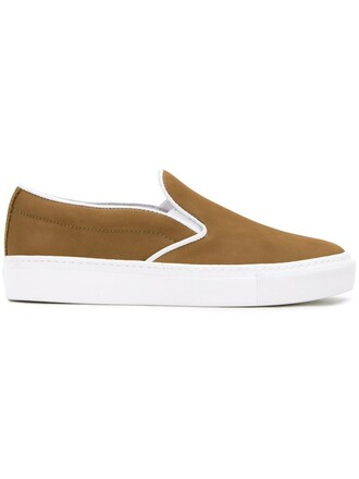 women sneakers suede brown shoes