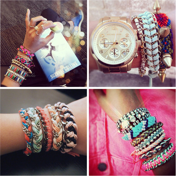 jewels watch watches summer bracelets handmade colorful bracelets diy diy jewelry boho jewelry gold chains ring