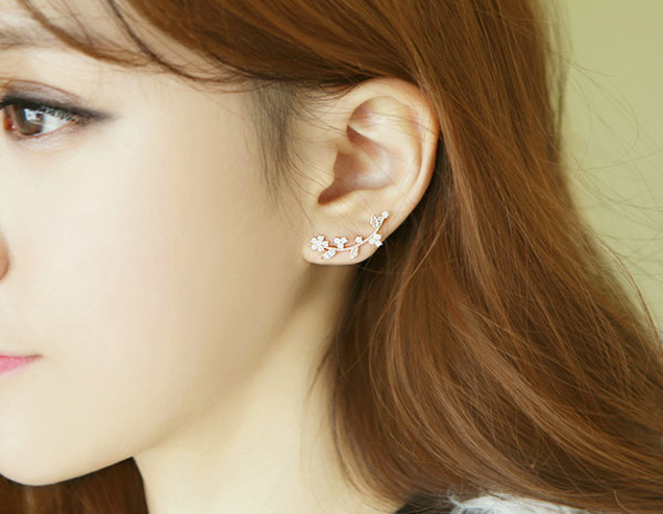 jewels leaves arc earrings leaves earrings