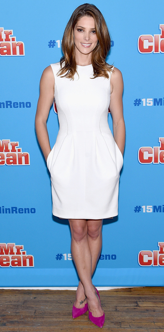 dress white dress ashley greene summer dress pumps shoes celebrities in white