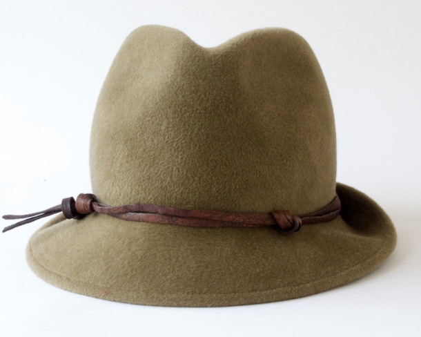 206d7597ecd56 t-shirt women accessories women khaki dress hat fedora green velour thread  furfelt ribbon cap