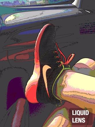 shoes nike roshe run mesh hot pink