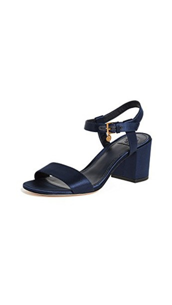 Tory Burch ankle strap sandals navy shoes