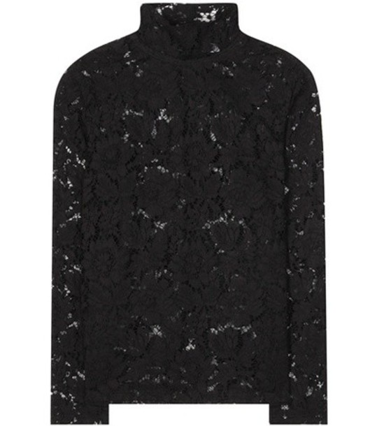 Valentino Lace Blouse in black