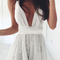 V-neck lace dressv-neck lace dress|disheefashion