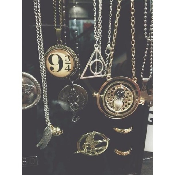 jewels, necklace, harry potter and the deathly hallows ...