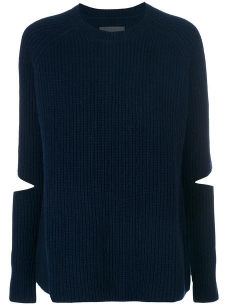 Zoe Jordan jumper women blue wool sweater