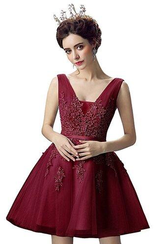 dress red dress queen homecoming lace dress princess short homecoming dress