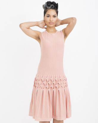 dress midi dress knitted dress nude pink nude pink dress