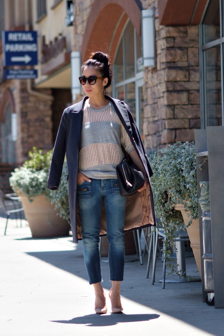 Fall Forward: Oversized Blazer and DIY Cropped Jeans