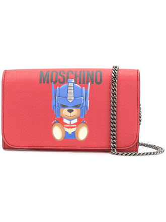 bear women purse red bag
