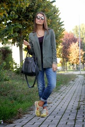 style and trouble,jeans,sunglasses,shoes,t-shirt,jacket,bag,jewels