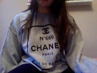sweater chanel chanel style jacket chanel jacket chanel sweater grey t-shirt paris