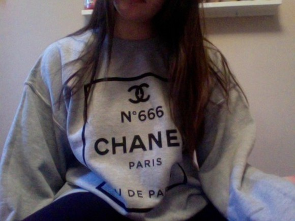 paris chanel chanel style jacket chanel jacket chanel sweater gray t-shirts sweater