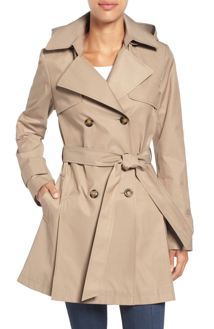 Halogen® Detachable Hood Trench Coat (Regular & Petite) | Nordstrom