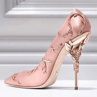 shoes pink details vintage blush designer heels pumps rose gold pink heels