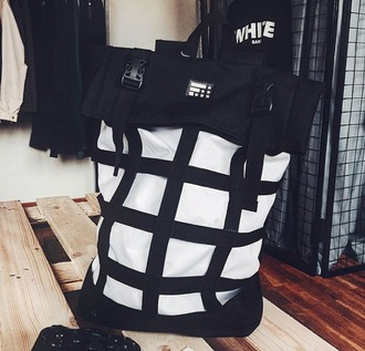 bag backpack rucksack urbanbackpack urbanbag urbanrucksack stylishrucksack black stylishbackpack stylishbag monochrome menswear mens accessories streetwear