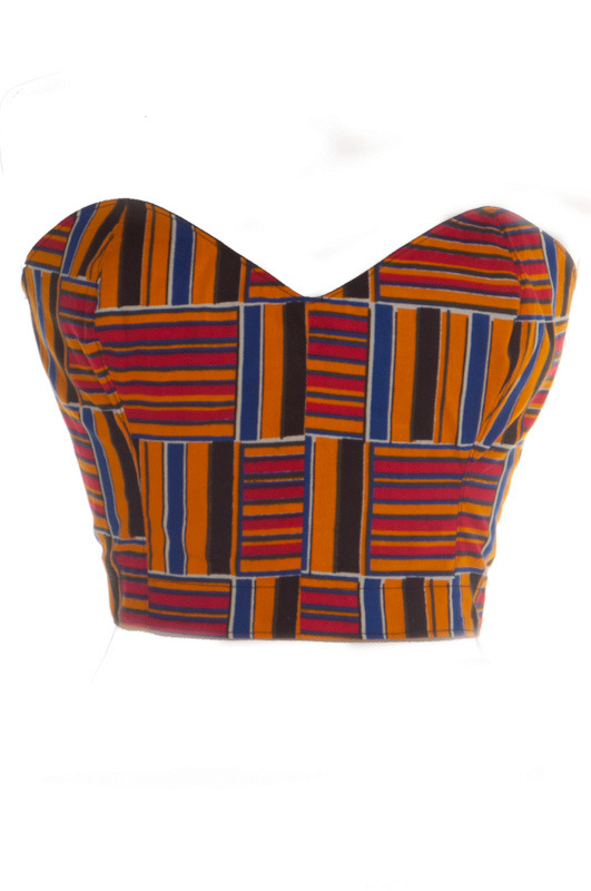 50s Inspired Pin-Up African Tribal Print Bustier | Style Icon`s Closet