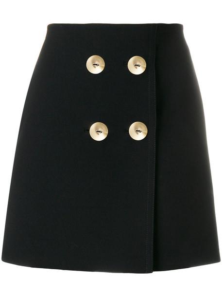 skirt mini skirt mini women embellished black wool