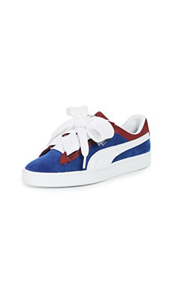 heart colorblock sneakers blue shoes