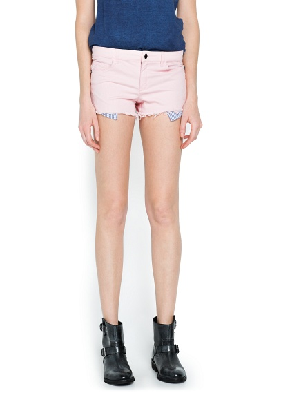MANGO - CLOTHING - Shorts - Contrast pocket short