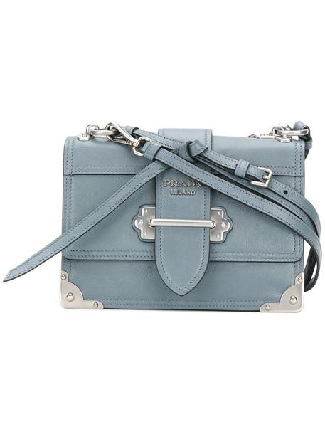 Prada women bag shoulder bag leather blue