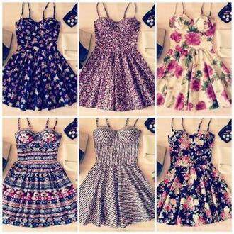 dress summer dress flowers pretty girly things floral pink black blue cute dresses mini dress flower skater dress floral dress short dress skater dress