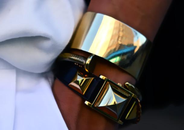 bracelets cuff studs gold