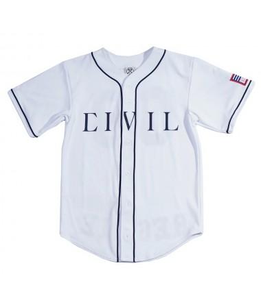 Civil regime baseball jersey in white