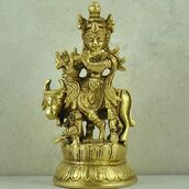 home accessory,lord krishna,krishna,statue,god,brass,sivalya