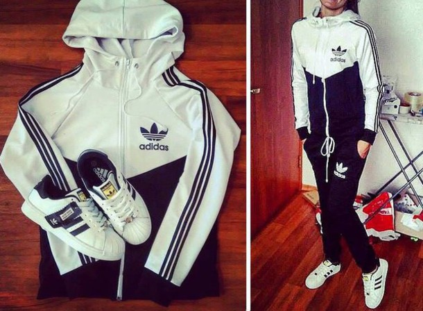 jumpsuit adidas hoodie pants tracksuit adidas tracksuit joggers sweatpants sweats adidas sweats adidas 3 stripes sweater clothes jacket