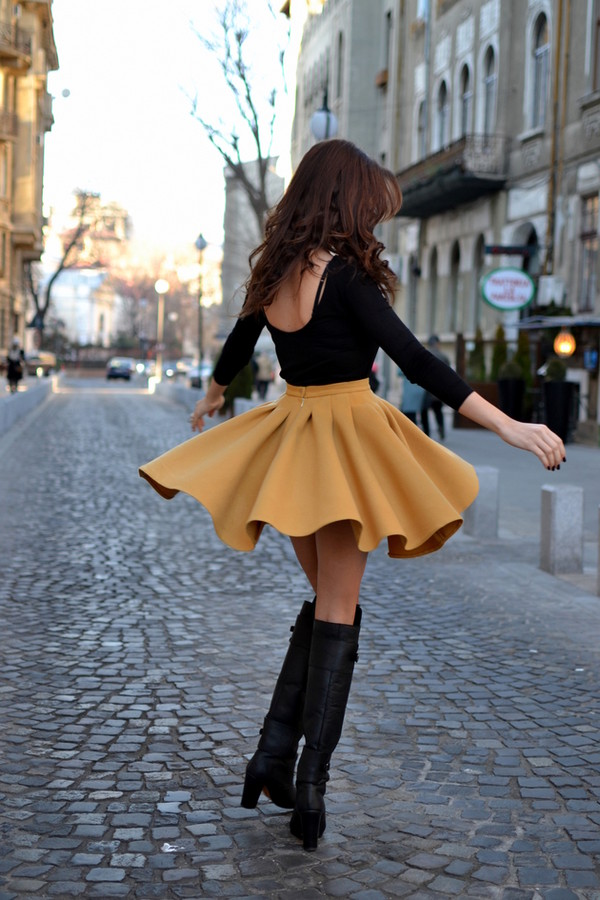 my silk fairytale blouse skirt shoes indie vintage yellow black style brown fashion hot pretty girl caramel