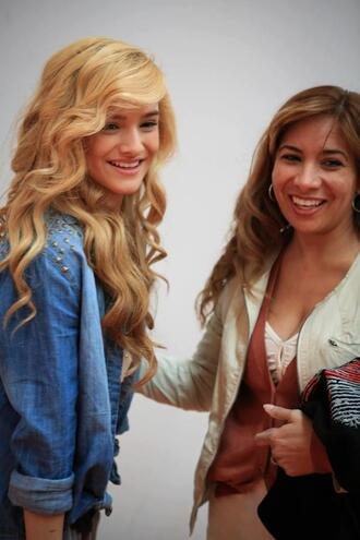jacket chachi gonzales denim jacket studs studded jacket