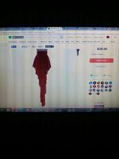 skirt,red,jersey material,tear drop skirt