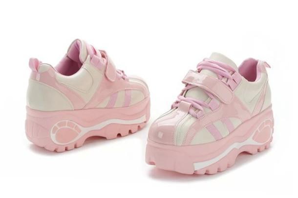 869d04a3666b shoes dejavu cat pink sneakers platform shoes platform sneakers harajuku  sneakers harajuku shoes fairy kei pink