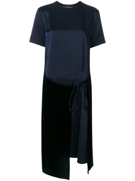 dress shirt dress t-shirt dress women blue velvet
