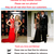 Black / Red Lace Slit Sleeveless Backless Long Formal Evening Dress AU Size 6-20