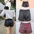 New Womens Sexy Elastic Waist Loose Faux Leather Shiny Hot Mini Shorts Pants | eBay
